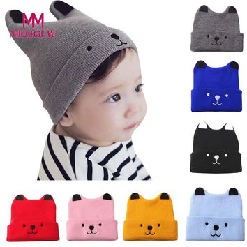 LL MUQGEW Children Kids Girl & Boy Baby Cartoon Bear Warm Crochet Knit Hat Beanie Cap Hat
