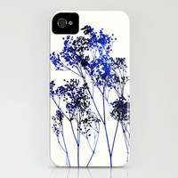 Baby's Breath_Blue iPhone Case by Garima Dhawan | Society6