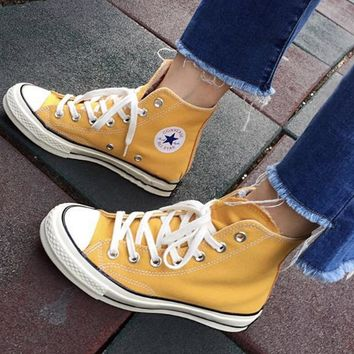 """Converse"" Fashion Canvas Flats Sneakers Sport Shoes Yellow"