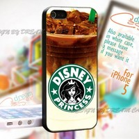 Disney Princess Coffee - Print On Hard Case For iPhone 5 Case