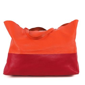 Celine Orange and Red Tote