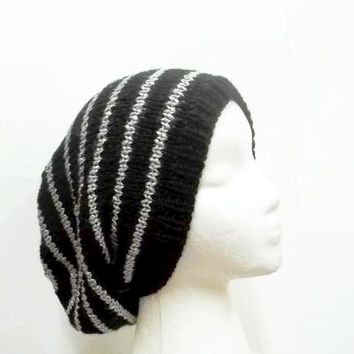 Slouchy beanie hat knitted 5271