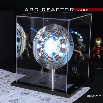 CosPlay Marvel Avengers Iron Man Replica scaled to size of Arc Reactor with LED Light with or w/o Gift box Free Shipping