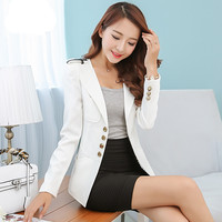 blazer feminino 2016 spring women blazers slim short jacket casual all-match women's long-sleeve suit jacket