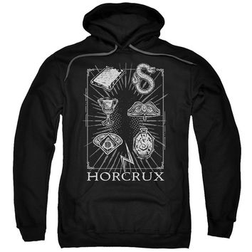 Harry Potter - Horcrux Symbols Adult Pull Over Hoodie Officially Licensed Apparel