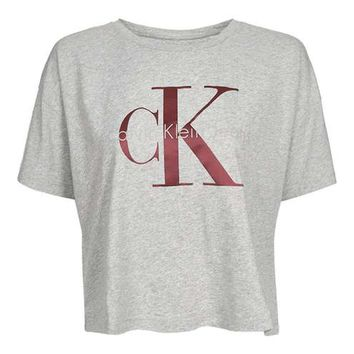 **Cropped T-Shirt by Calvin Klein
