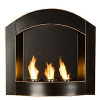 Indoor or Outdoor Wall Mounted Gel Fireplace - Black