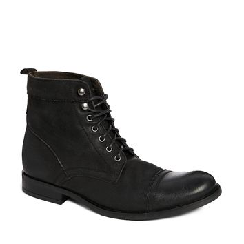 Base London Leather Military Boots