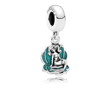disney parks ariel and sea shell pandora jewerly charm new with pouch