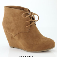 Wild Sally Booties-Camel