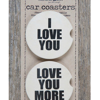 Natural Life Car Coaster Set - I Love You
