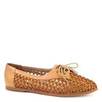 Shellys Brown Woven Flat Shoes