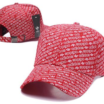 Red ADIDAS Golf Baseball Cap Hat