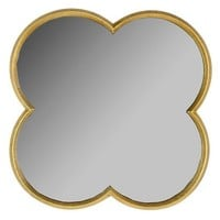 "Quatrefoil Mirror Gold Finish 23"" -Threshold™"