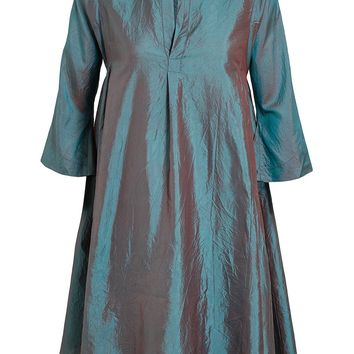 Dosa Oversized Iridescent Silk Tunic Dress