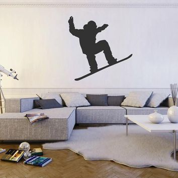 ik1865 Wall Decal Sticker surfer surfing mountain sports bedroom living room