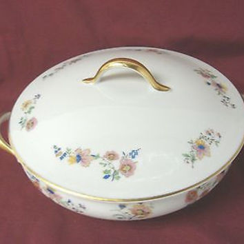 GDH. Gerard, Dufraiss & Abot Limoges France Pattern # GDA156 RD Covered Veg Dish