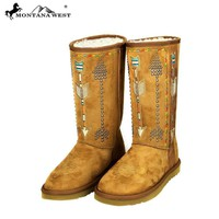 BST-038  Montana West Arrow Design Collection Boots