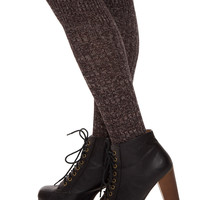 Farrah Over The Knee Socks - Charcoal