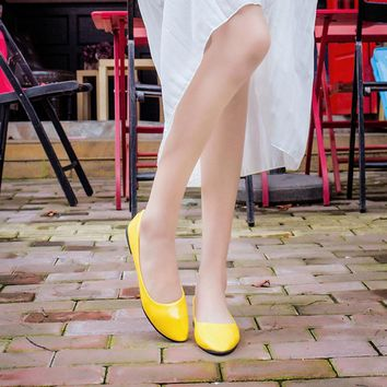 Women Lady Flat Pointed Toe Leather Slip On Casual Loafers Shoes Sale Top Spring Casua