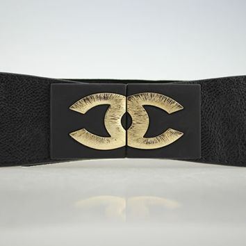 Chanel waistband for women elastic elastic elastic elastic belt wide fashion belt