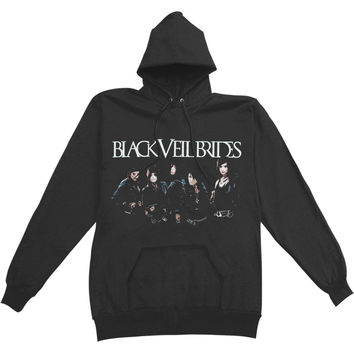 Black Veil Brides Men's  Skyline Hooded Sweatshirt Black