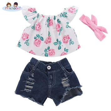 Baby girl clothes 2018 Summer Toddler Infant Kids Toddler Baby Girl Unicorn T-shirt Crop Top Vest+Shorts 2Pcs Outfit clothes set