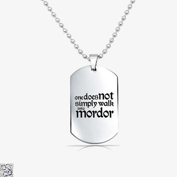 One Does Not Simply, Lord Of The Rings Tag Necklace