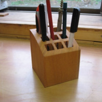 Natural Wood Pen Stand made from Japanese Timber