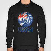 5 Seconds of Summer Flag Hoody by dan ron eli