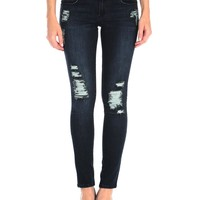 Tractr Ripped Pleather Skinny