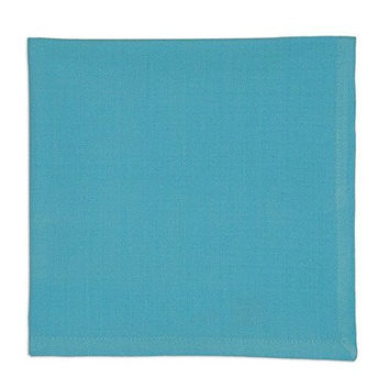 Design Imports Caribbean Aqua Blue Cloth Napkins (Set/4)