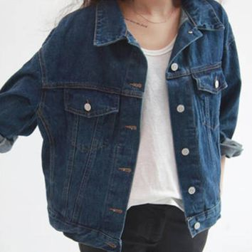 Denim Jackets Single-Breasted