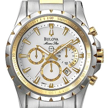 Bulova Men's Two Tone Marine Star Chronograph Watch 98B014