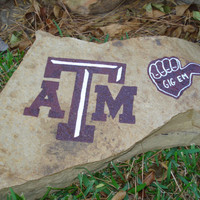 Texas A&M Aggies Hand Painted Decorative Rock