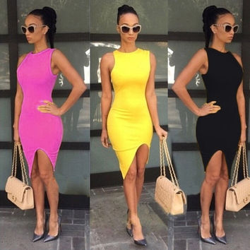 Fashion Sexy Women's Lady Summer Casual Bandage Bodycon  Evening Party Cocktail Short Mini Dress 5 Colors = 5618636161