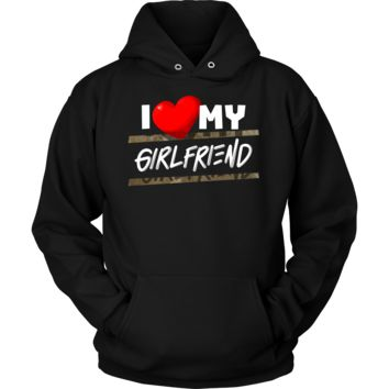 I Love My Girlfriend Heart Family Fun and Cute Quote Hoodie