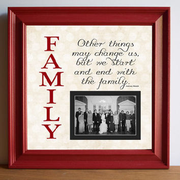 Family Custom Picture Frame - personalized frame - wooden frame - square frame - quote frame - Grandparent - 15x15