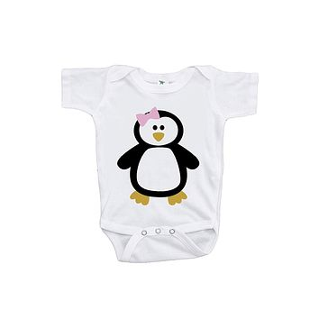 Custom Party Shop Baby Girl's Penguin Onepiece