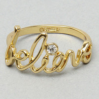 "The ""Believe"" Ring in Gold"