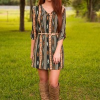Falling Into Place Dress-Forest - NEW ARRIVALS