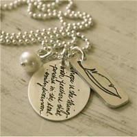 hope is the thing necklace
