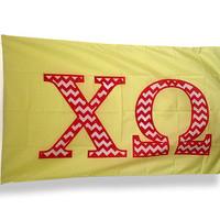 Chi Omega Chevron Flag
