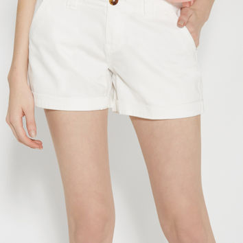 chino shorts in white | maurices