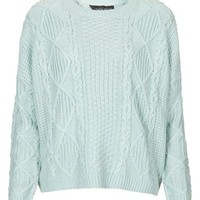 Topshop Cable Knit Sweater (Petite) | Nordstrom