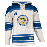 Pittsburgh Penguins Old Time Hockey Home Lace Heavyweight Hoodie – Stone