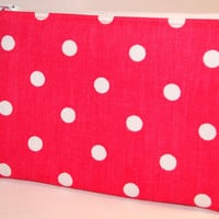 Zipper Pouch, Purse Accessory, Hot Pink, Small Items Holder, Zippy Bag, Gift for Her, Travel Pouch