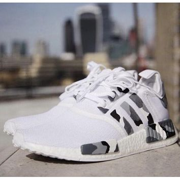 Adidas NMD Trending Women Men Camouflage Print Comfortable Running Sport Shoes Sneakers I