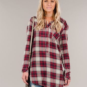 Farmhouse Plaid Top