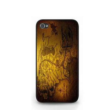 Game of Thrones Seven Kingdoms Map iPhone 4 4S / iPhone 5 Hard Case Cover